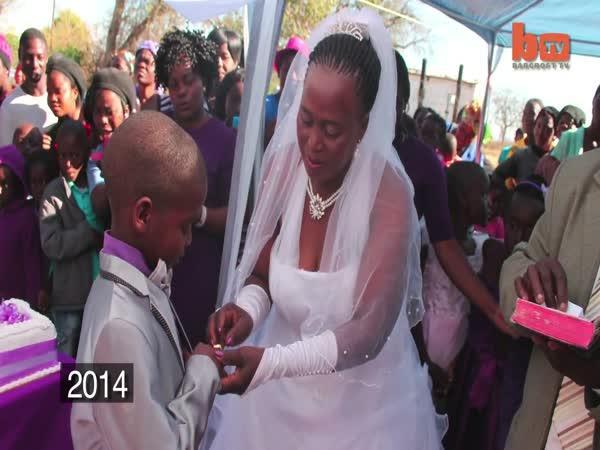 Svatba - Dítě & stařena