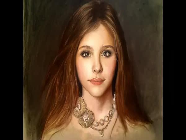 Malování obrazu dívky