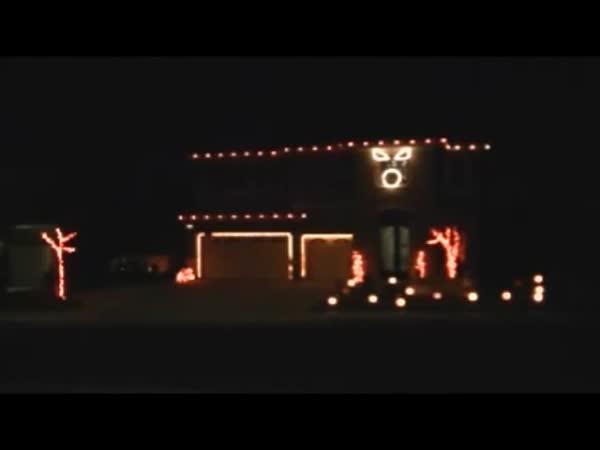 Halloween Light House Show