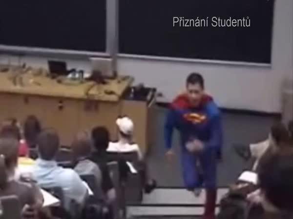 Opuštění přednášky na výšce