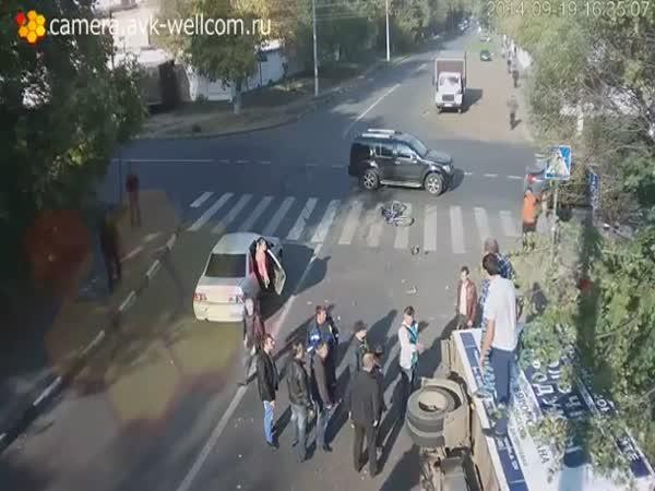 Veliké štěstí při dopravní nehodě