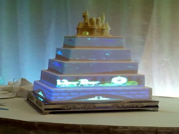 Walt Disney - svatební dort