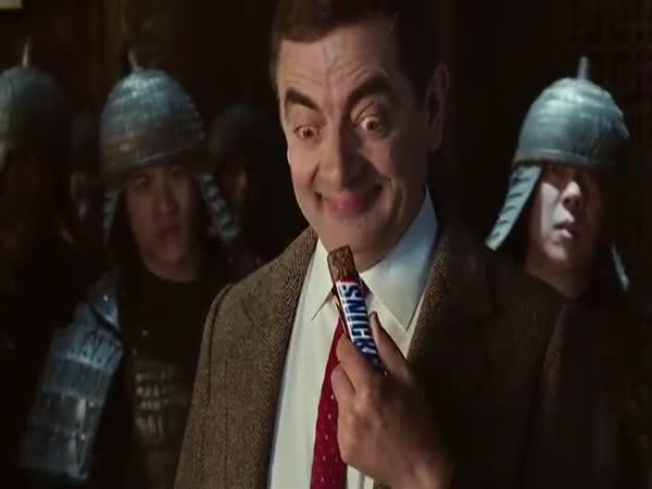 Mr. Bean v reklamě na Snickers