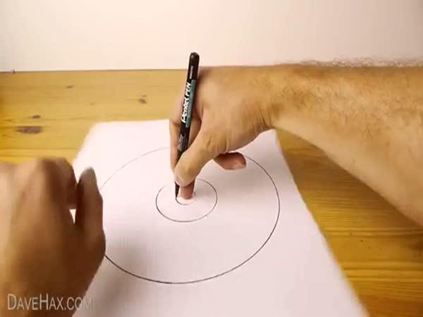 NÁVOD - Jak nakreslit rukou kruh
