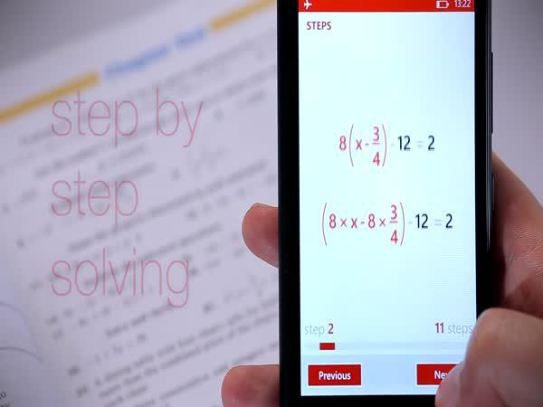 Výpočetní mobilní aplikace PhotoMath