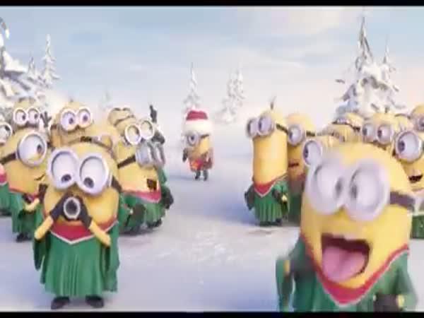 Mimoňové přejí Veselé vánoce