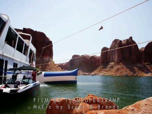 Vodní katapult - letní radovánky
