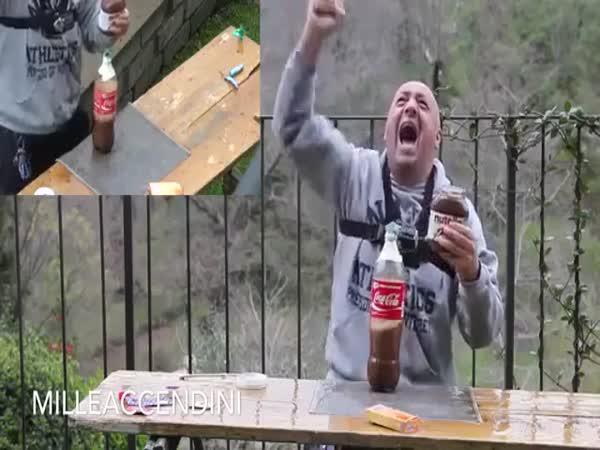 Coca cola + Mentos, nutella a kondom