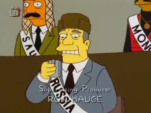 Ruská krize - Simpsonovi parodie