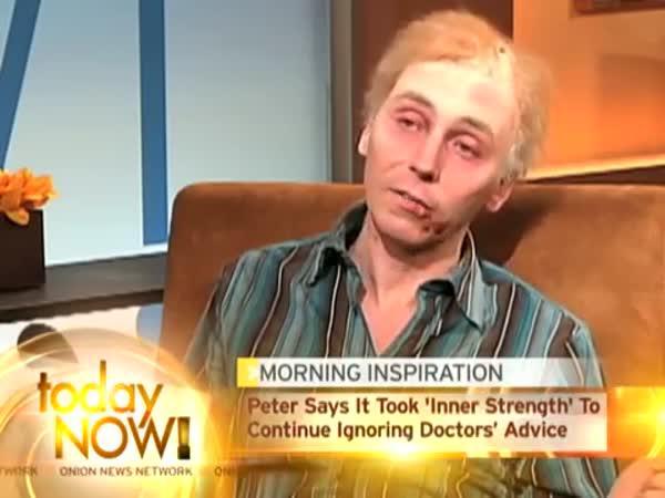 Statečný muž odmítá uvěřit své diagnóze