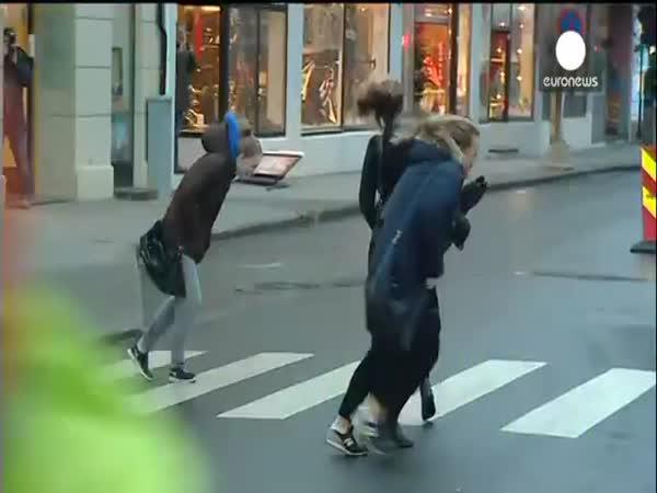 Extrémně silný vítr v Norsku