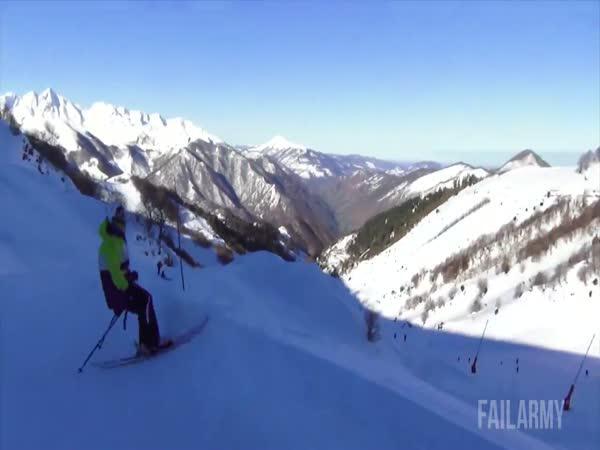 Salta na lyžích