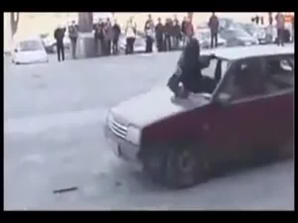 Ruská zásahovka - zastavení vozidla