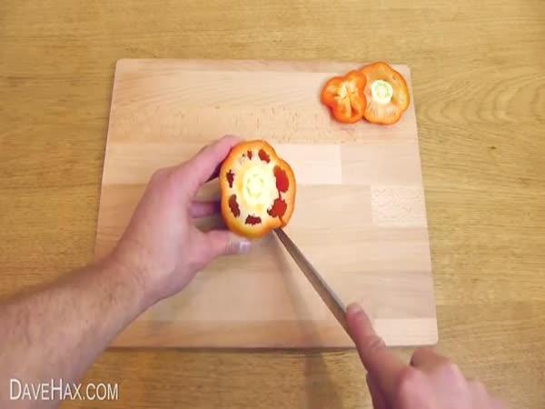 Návod - Jak krájet papriku