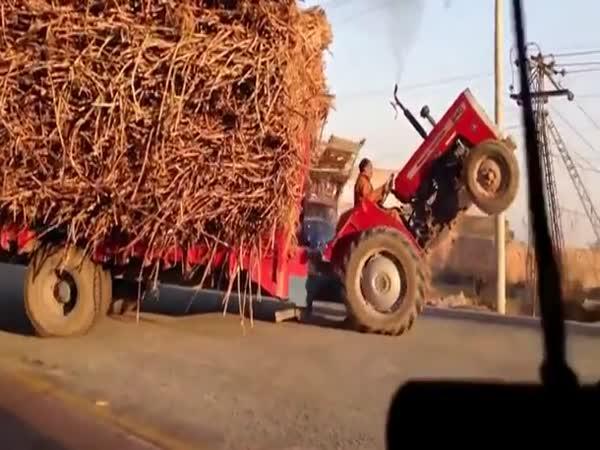 Traktorista po zadních