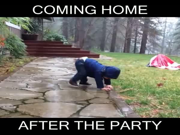 Když jdete ráno domů z párty