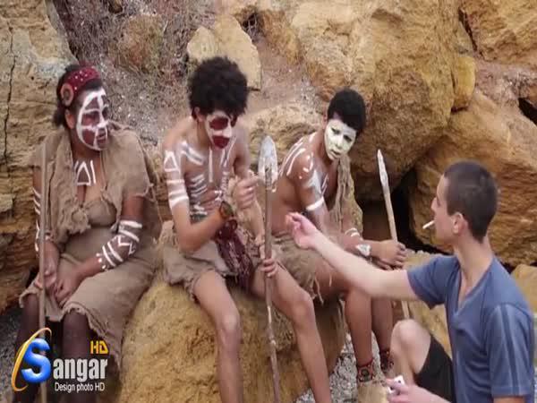 Když africký kmen objeví zapalovač