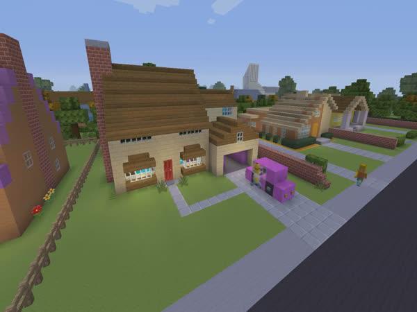 The Simpsons v Minecraftu