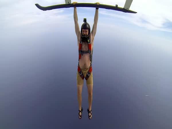 GoPro - skok s padákem