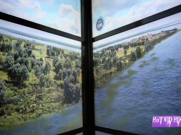 Výtah ukazující vývoj New Yorku