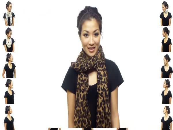 Návod - 25 způsobů jak uvázat šátek