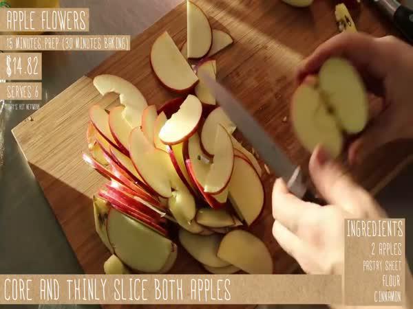 Návod - jablečné kytičky