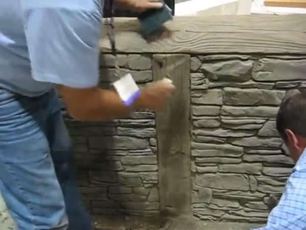 Ražený betonový obklad