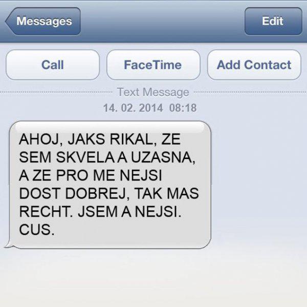 GALERIE - SMS, které nechcete dostat