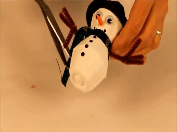 Návod - papírový sněhulák