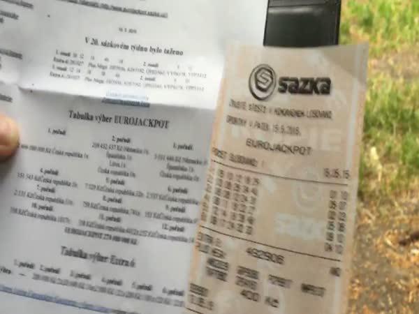 Eurojackpot tiket spálen!