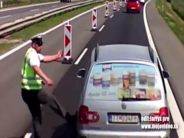 Jak policista rozháněl zácpu