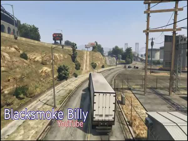 GTA V - Vydařený skok s kamionem