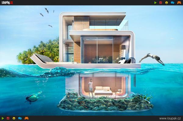 GALERIE - Luxusní hausbót pod vodou