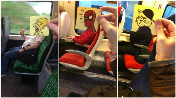 GALERIE - Umělec se nudil ve vlaku