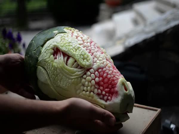 Děsivý drak z melounu