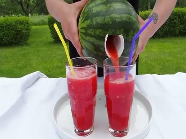 Návod – melounový šejk