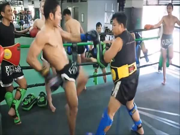Taekwondo bojovník a jeho kopy