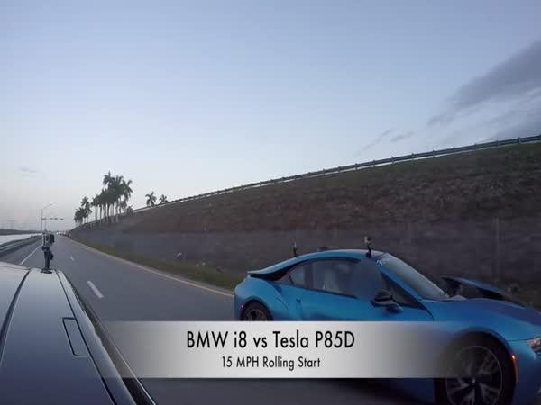 Tesla Model S P85D vs. BMW i8