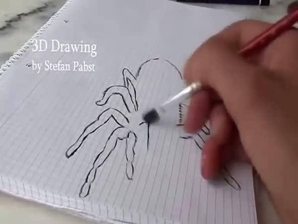 Jak nakreslit 3D pavouka