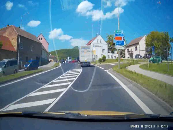 Česká republika - Nepozorný řidič