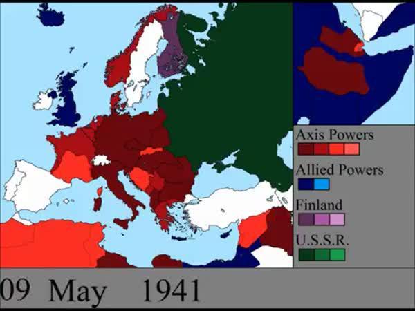 Animace - Mapa během 2. sv. války
