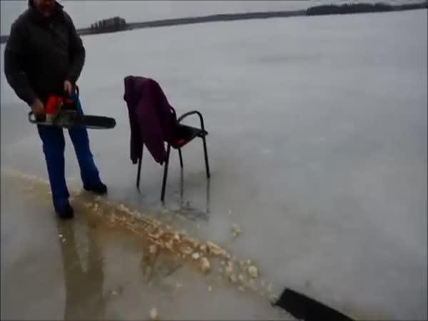 Když se nudíte na zamrzlém jezeře