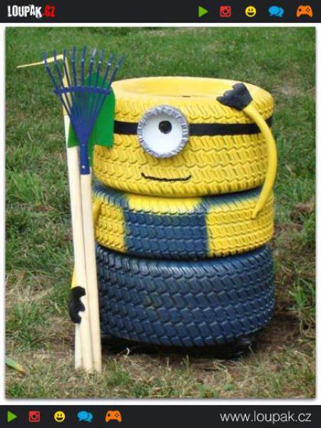 GALERIE - Vtipné využití pneumatik