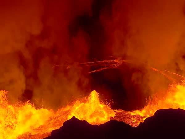 Erupce sopky na Islandu