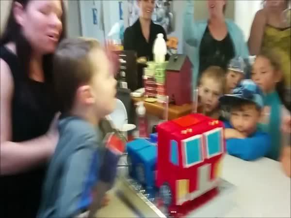Narozeninový dort - Transformers