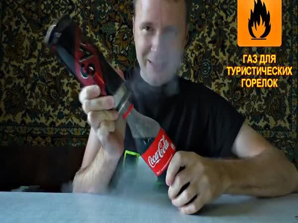 Pokus - Propan a Coca Cola