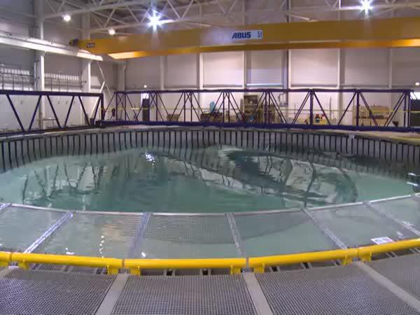 Simulace vln v bazénu
