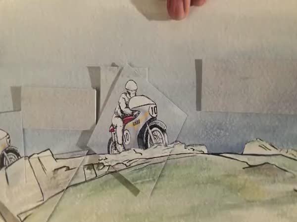 Honda - Papírová animace