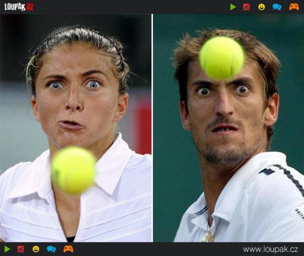 GALERIE - Grimasy tenistů