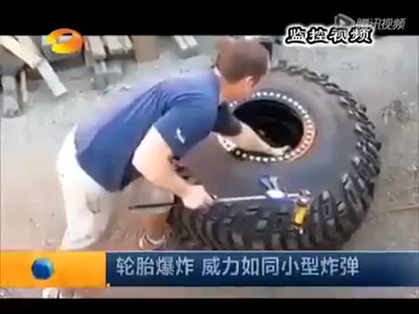 Když kamionu bouchne pneumatika